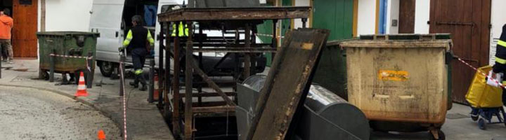 Ibiza comienza las obras de renovación de los 18 contenedores soterrados del barrio de la Marina