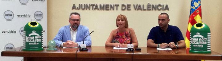 Ecovidrio galardona a Valencia por ser el municipio que más recicló durante la pasada campaña estival