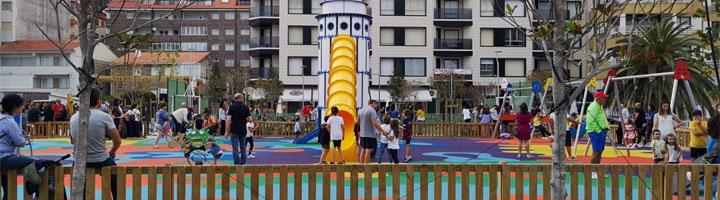 Sanxenxo inaugura el parque Panadeira con una fiesta infantil