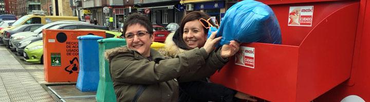 Gijón se suma a la recogida de ropa usada de la Semana Europea de Prevención de Residuos en Asturias
