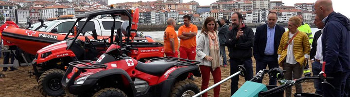 Diputación Foral de Bizkaia refuerza la recogida selectiva en las playas, que recibieron en 2016 un notable en limpieza
