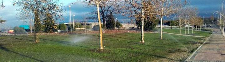 Madrid crea una red de riego con agua regenerada y 28 zonas verdes ajardinadas en el Ensanche de Vallecas