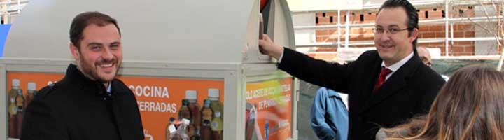 Leganés presentó los nuevos puntos de recogida de aceite vegetal de uso doméstico