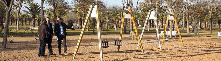 Los Palacios y Villafranca estrena nueva iluminación y nuevos juegos infantiles en el Parque de las Marismas