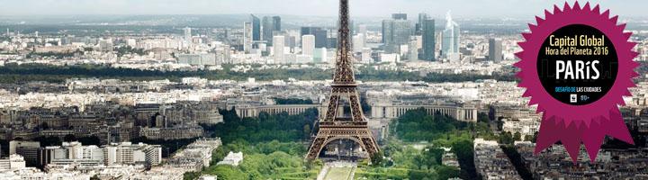 París gana el título de Capital Global de la Hora del Planeta 2016