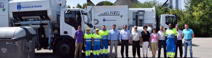 Humanes de Madrid presenta los nuevos vehículos de recogida de residuos
