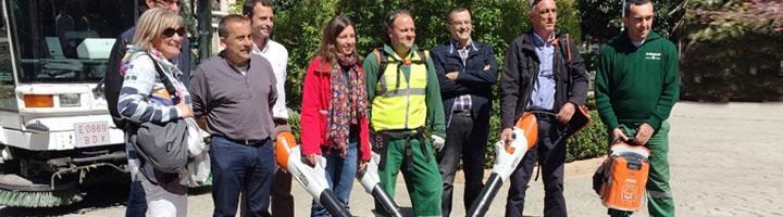EMAYA incorpora a los servicios de limpieza 23 sopladoras eléctricas menos ruidoso y más sostenible