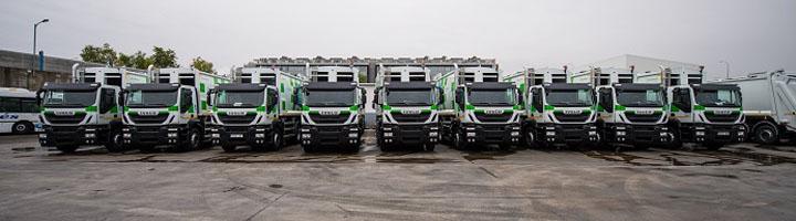Iveco entrega al Ayuntamiento de Madrid 109 vehículos Stralis de gas natural para la recogida de residuos urbanos