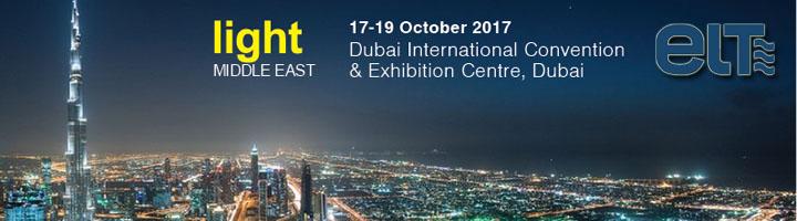 ELT mostrará sus avances en tecnología de iluminación en la Feria LIGHT MIDDLE EAST 2017
