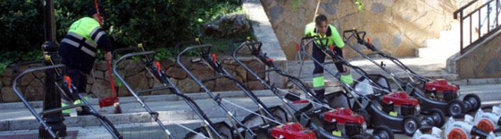 Marbella incorporará nueva maquinaria ligera para el mantenimiento de los parques y jardines del municipio