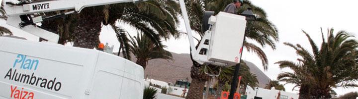 Yaiza comienza la renovación de farolas en Las Breñas
