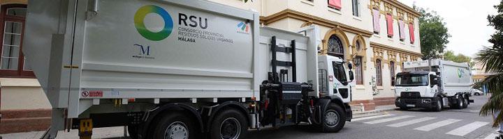 La Diputación de Málaga invierte 1,4 millones de euros en siete nuevos camiones para mejorar la recogida de residuos