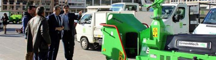 El mantenimiento de parques y jardines de Benidorm será más sostenible al incorporar vehículos eléctricos