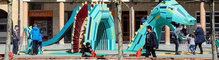 Arrasate ha invertido 1.128.000 euros en 8 parques infantiles en los barrios y en el centro