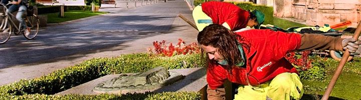 ACCIONA lleva cabo el mantenimiento de las zonas verdes de León