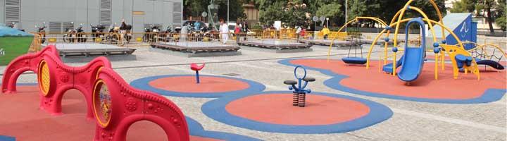 Leo Messi inaugura el parque infantil Vall d´Hebrón en Barcelona