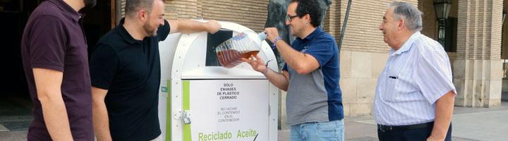 La campaña 'Reciclar tiene su punto' implanta 191 nuevos contenedores de recogida de aceite usado en Zaragoza