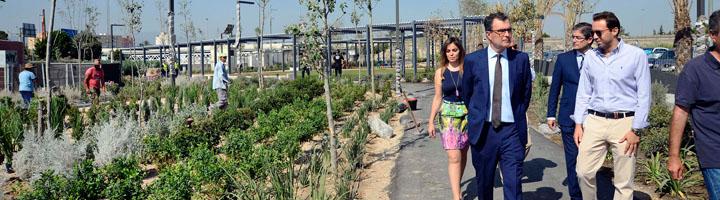 Los trabajos en el paseo fluvial 'Murcia Río' encaran su recta final