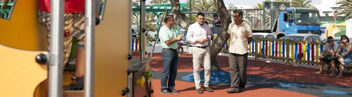 Teguise estrena nuevos parques infantiles en Costa Teguise, La Villa y Tahiche