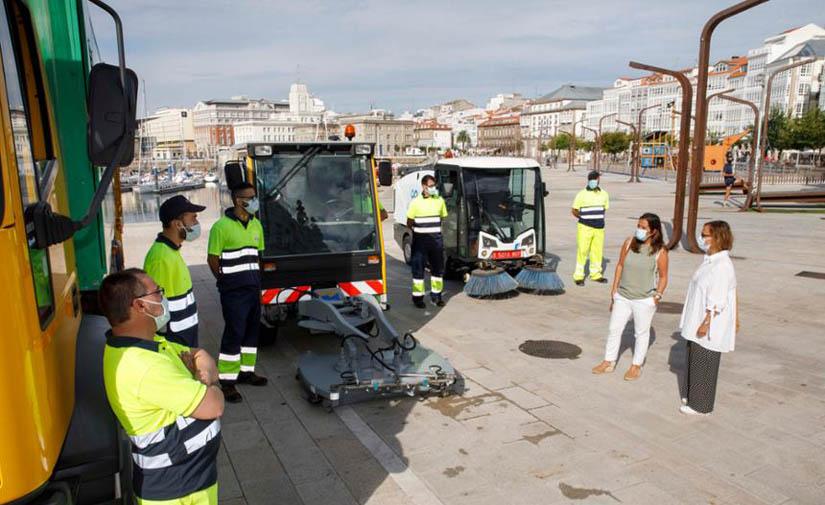 A Coruña presenta un Plan de Choque para la limpieza y desinfección de la ciudad
