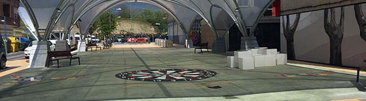 Abierto el nuevo bulevar cubierto de Iurreta