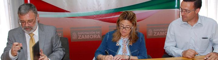 La Diputación de Zamora firma un convenio para la recogida de pilas y acumuladores portátiles
