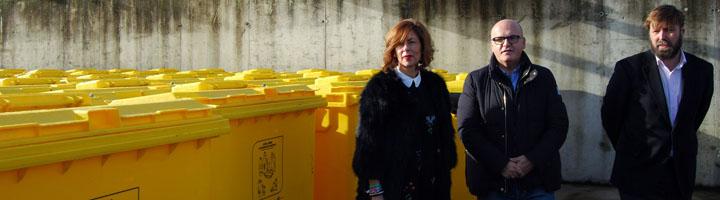 La Xunta entrega a la Diputación de Ourense 480 contenedores de envases y papel/cartón para incrementar las tasas de reciclaje