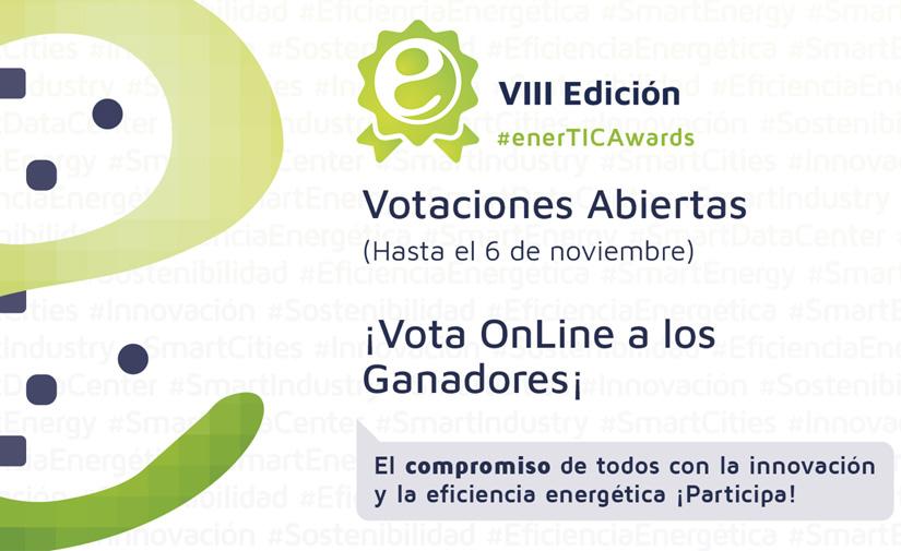 Abiertas las votaciones de los 'Premios a la innovación y tecnología para la eficiencia energética en la era digital' de enerTIC