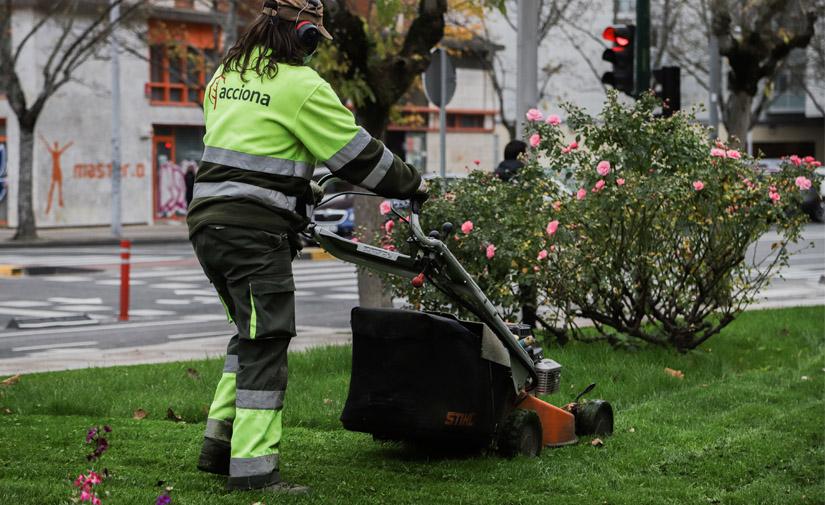 ACCIONA gestionará el mantenimiento de zonas verdes y limpieza viaria de Binéfar