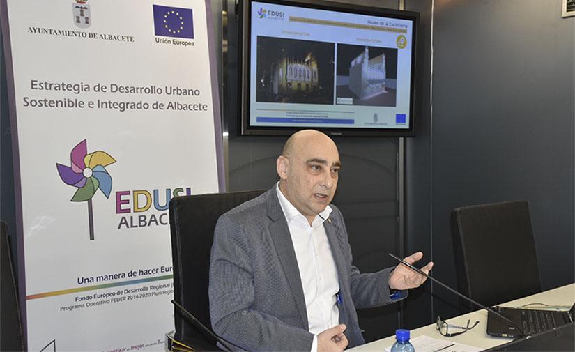 Albacete renueva la iluminación exterior del Ayuntamiento y Museos ahorrando hasta un 88% de energía