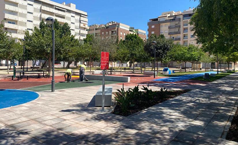 Avanzan a buen ritmo las obras de las nuevas zonas verdes de Ronda Sur en Murcia