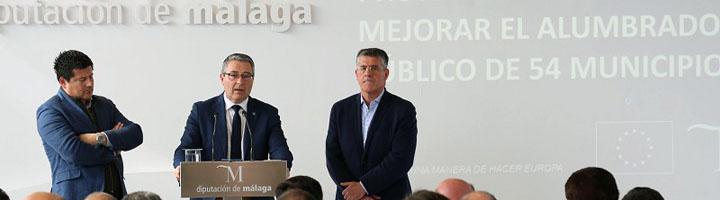 La Diputación de Málaga renovará 7.000 puntos de luz de 54 municipios para reducir el consumo energético en más del 70%