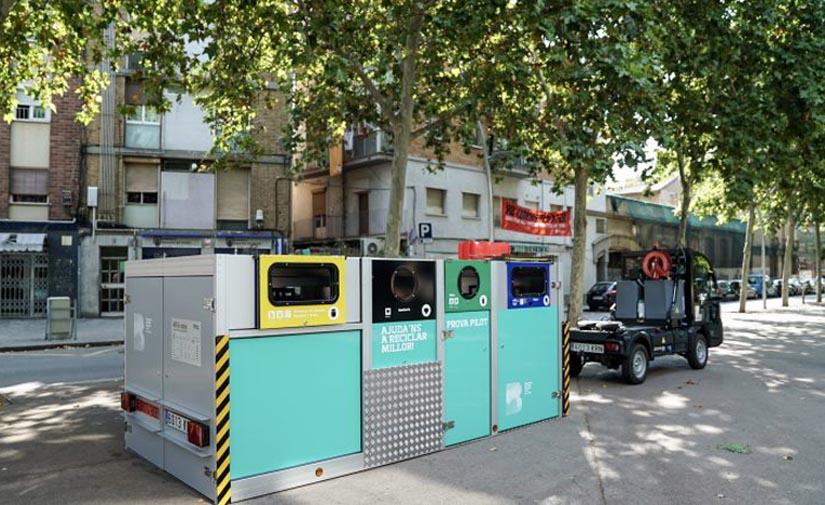 Barcelona mejora la recogida selectiva de residuos en el Bon Pastor