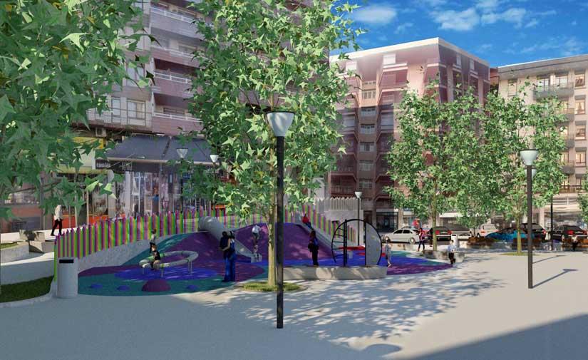Bilbao renueva e incorpora una zona de juegos a la Plaza Músico Arambarri de Santutxu