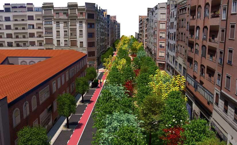 Bilbao transformará la Calle María Díaz de Haro en un corredor verde