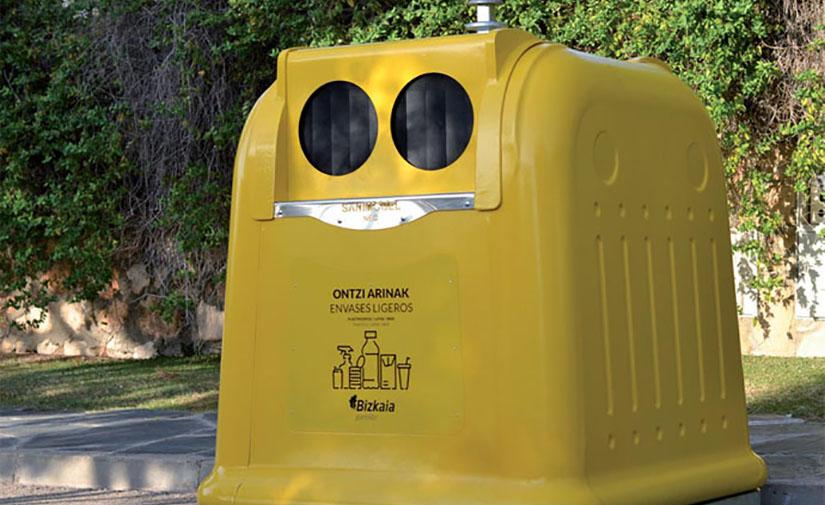 Bizkaia reduce la generación de residuos urbanos un 5% durante 2020