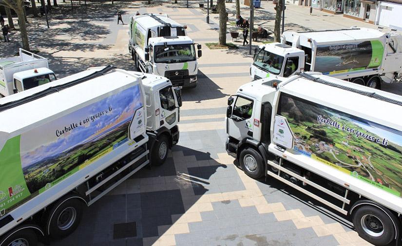 Carballo presenta su nueva flota para el servicio de recogida de residuos sólidos