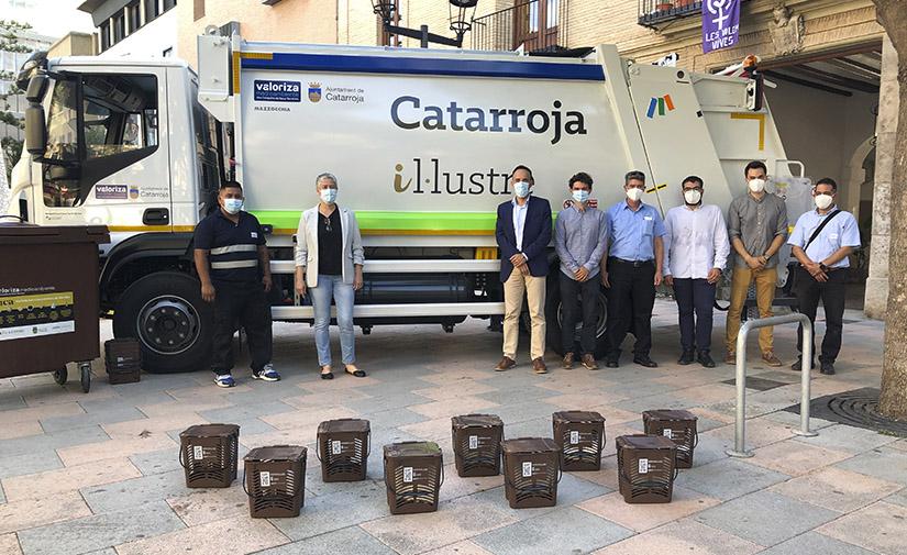 Catarroja incorpora un vehículo a gas natural para la recogida de residuos orgánicos