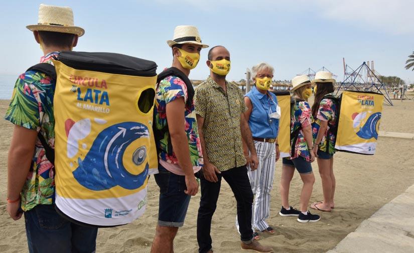 """""""Circula tu lata"""", la campaña malagueña para impulsar el reciclaje en las playas"""
