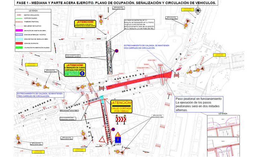 Comienzan en Madrid las obras de remodelación de la calle Alcalá entre Cibeles y Cedaceros