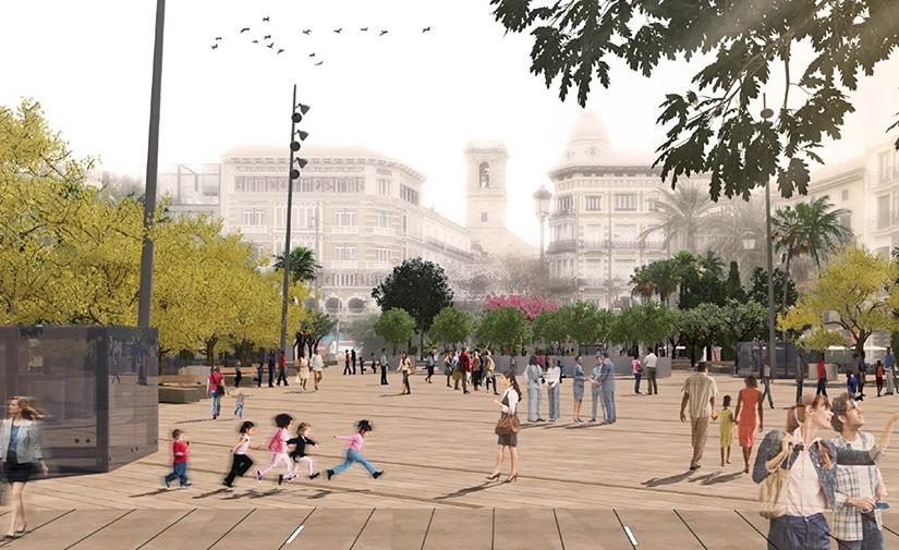 Comienzan las obras de peatonalización de la plaza de la Reina de Valencia