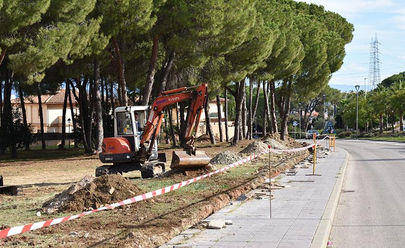 Comienzan las obras para habilitar un gran parque urbano en el pinar de Taralpe de Alhaurín de la Torre