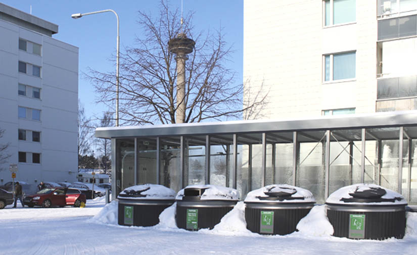 ¿Cómo influye la nieve y a los contenedores de basura?