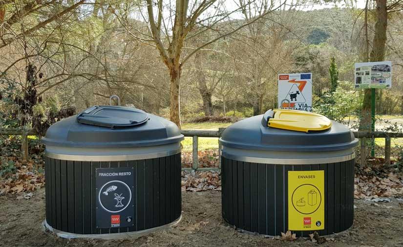 Contenedores Molok de reciclaje para áreas recreativas de la Comunidad de Madrid