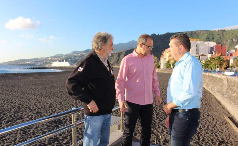 Costas da el visto bueno a la ordenación propuesta por el Ayuntamiento de Santa Cruz de La Palma para la playa