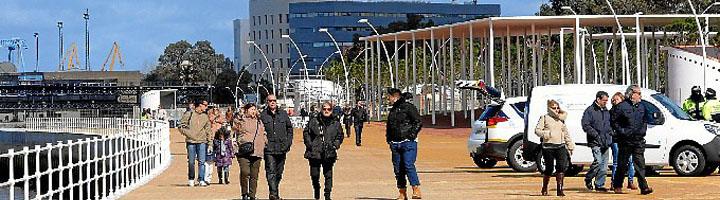 Inaugurado el nuevo Paseo de la Ría del Puerto de Huelva