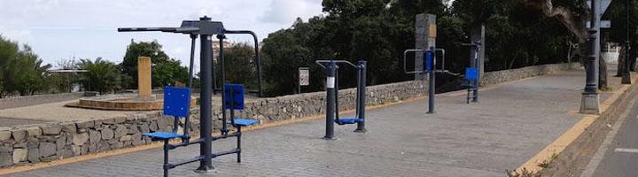 Teror instala 38 nuevos aparatos biosaludables en distintos espacios públicos del municipio