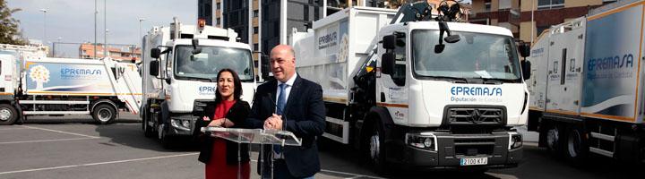 Epremasa presenta la nueva flota de recogida de residuos, 84 vehículos dotados de las últimas tecnologías