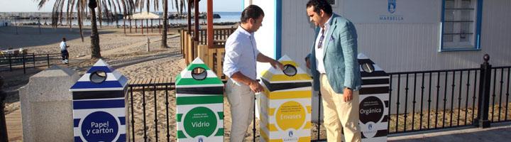Marbella mejora los puntos limpios destinados a la gestión de residuos en las playas