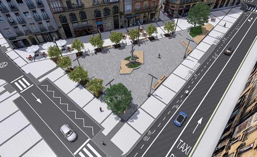 Donostia da un paso más para la urbanización de la Plaza Easo
